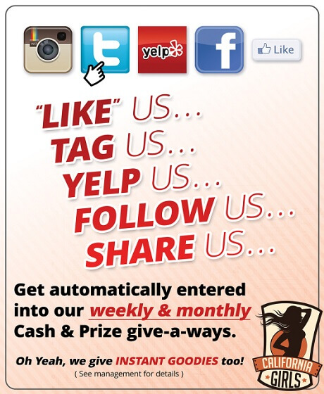 Like, Tag, Yelp, Follow and Share us!